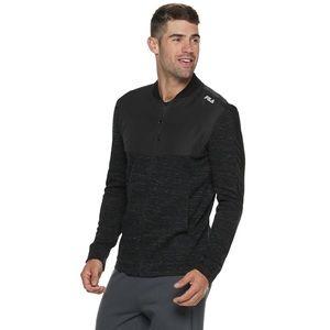 Men's Fila Sport Varsity Full Zip Jacket Black XL